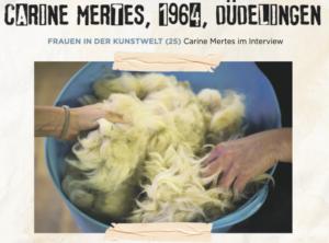 article sur Carine Mertes dans le Tageblatt août 2021